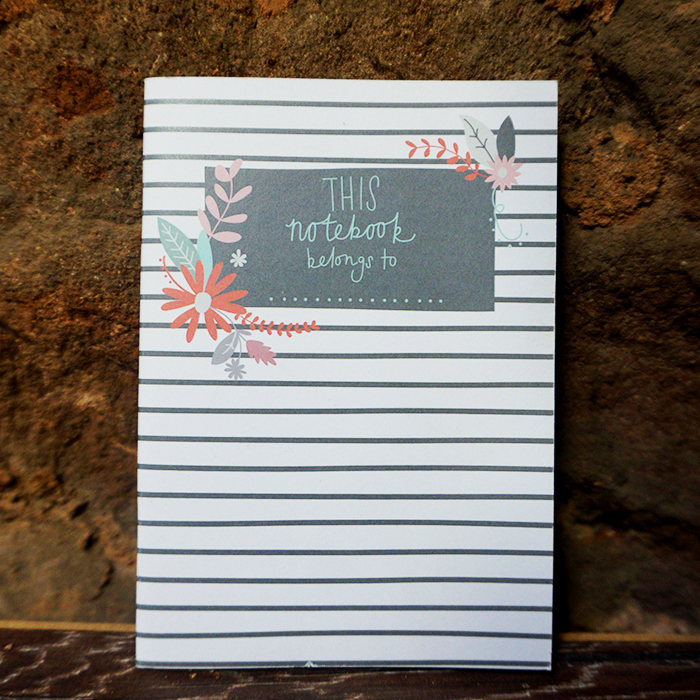Hand – Lllustrated Notebook – Stripe