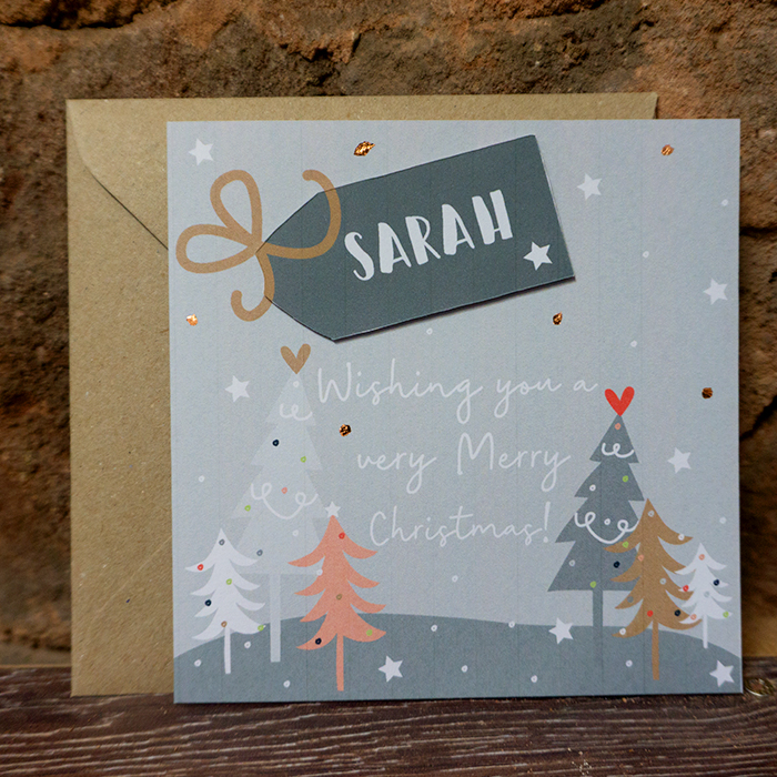 "Personalised Christmas Card – ""To…"" Custom Made"