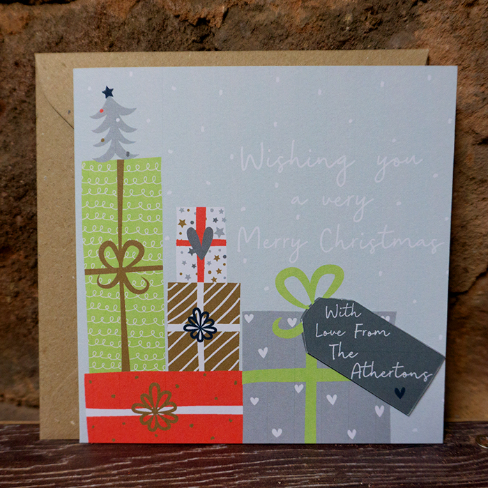 "Personalised Christmas Card – ""From…"" Custom Made"