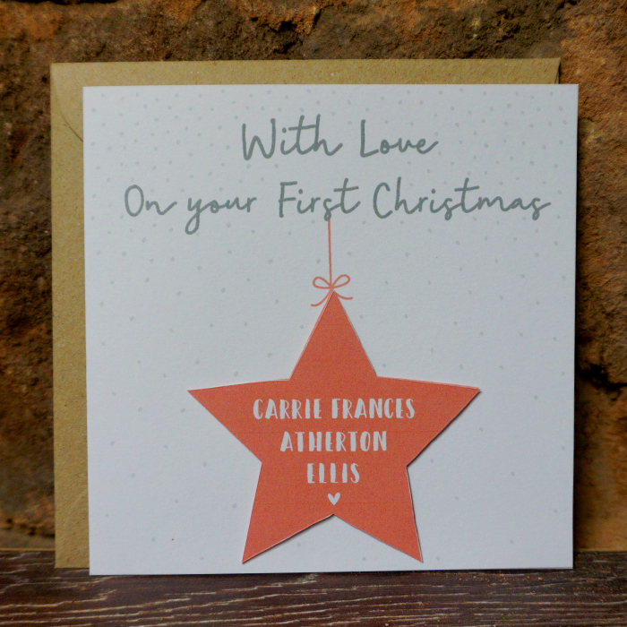 Personalised Christmas Card – First Christmas