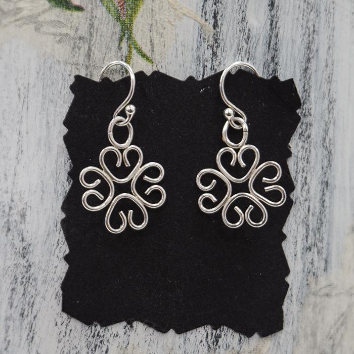 Silver Sweet Heart Earrings