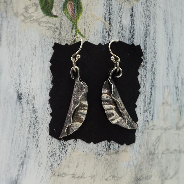 Silver Fold Form Earrings