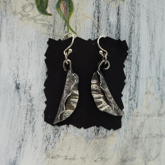 Silver Fold Form Earrings