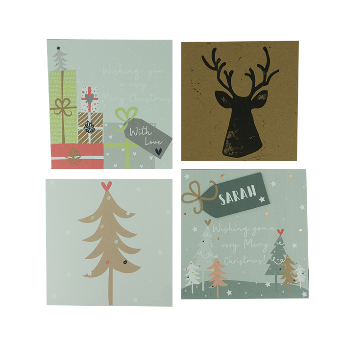 Mixed Pack Of Christmas Cards – 4 Designs