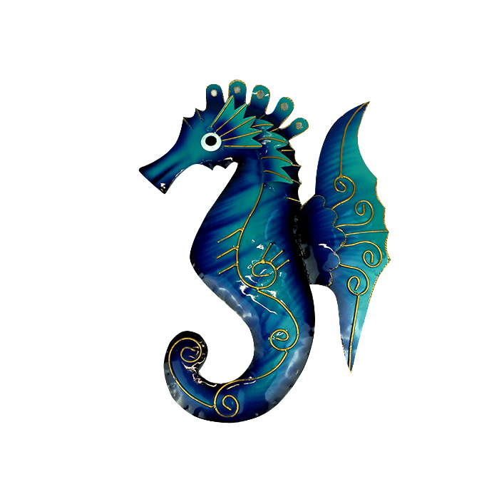 Painted Metal Seahorse – Small
