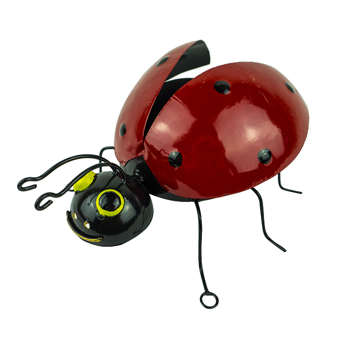 Painted Metal Wall Ladybird