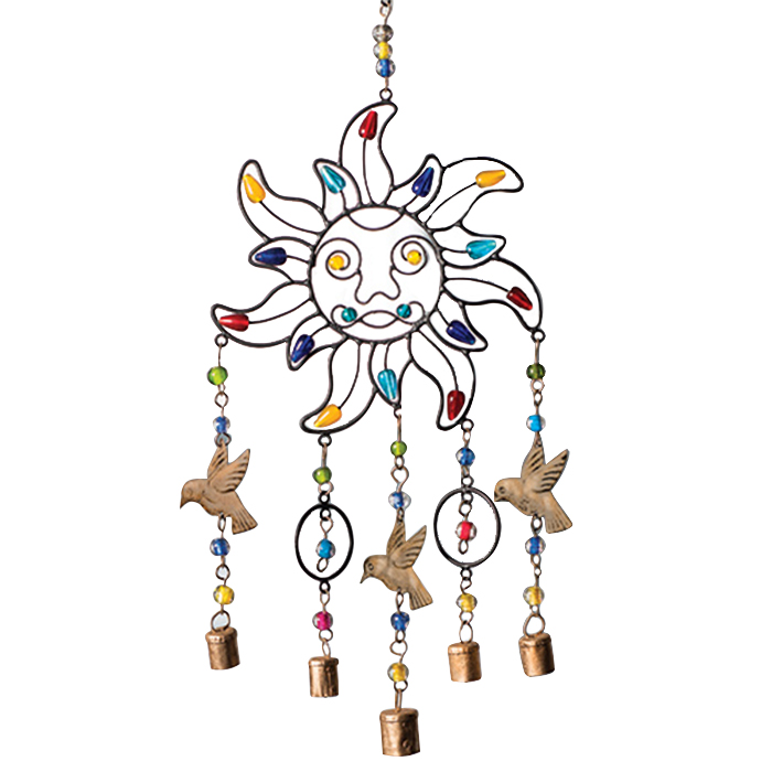 Sun Wind Chime With Mixed Beads