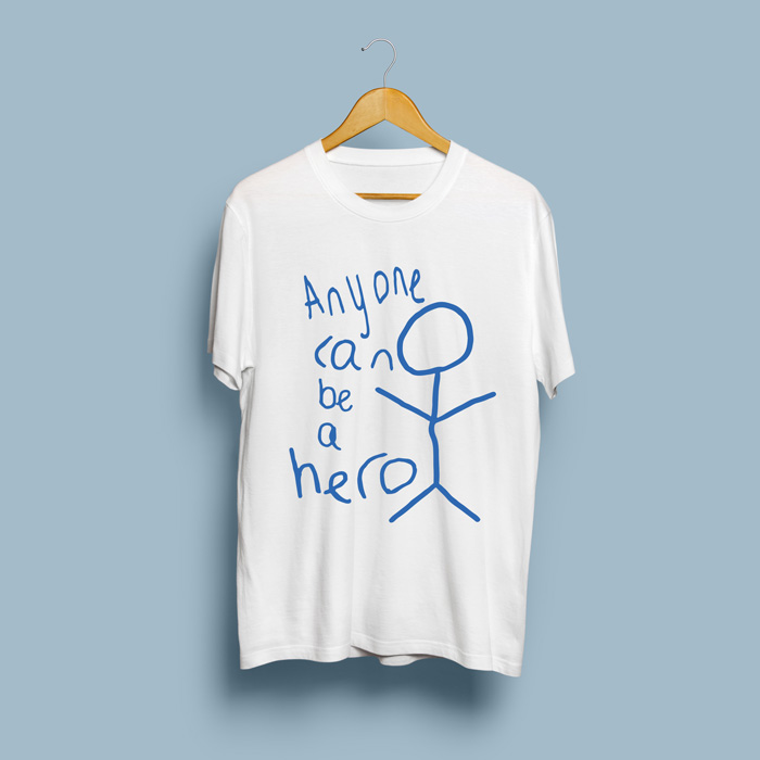 Be A Hero Adults T-Shirt