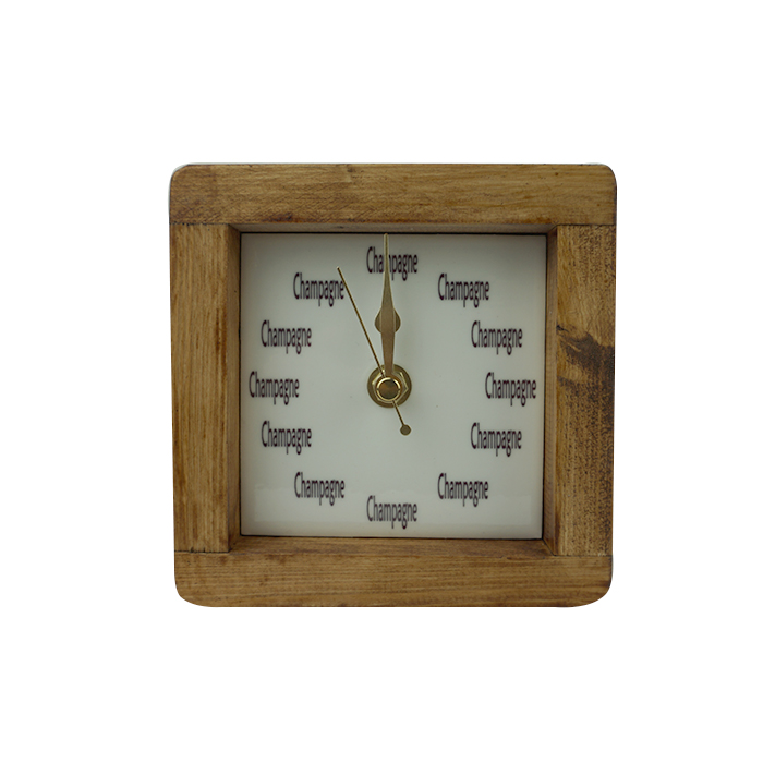 Champagne Square Clock