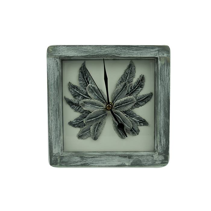 Angel Wings Feather Square Clock