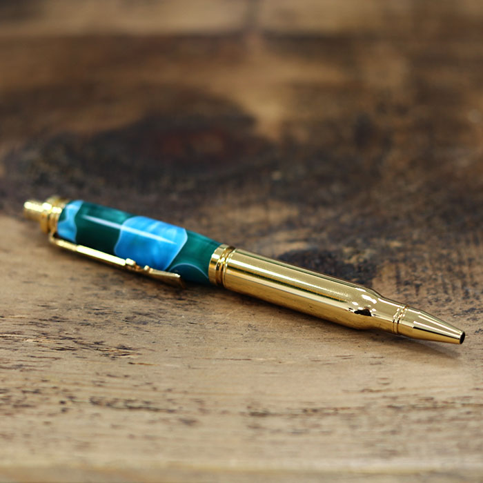 Rifle Bullet Acrylic Gold Rollerball