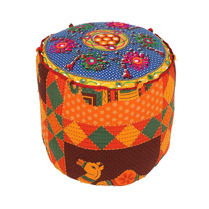 Indian Fabric Recycled Stool – Coming Soon!