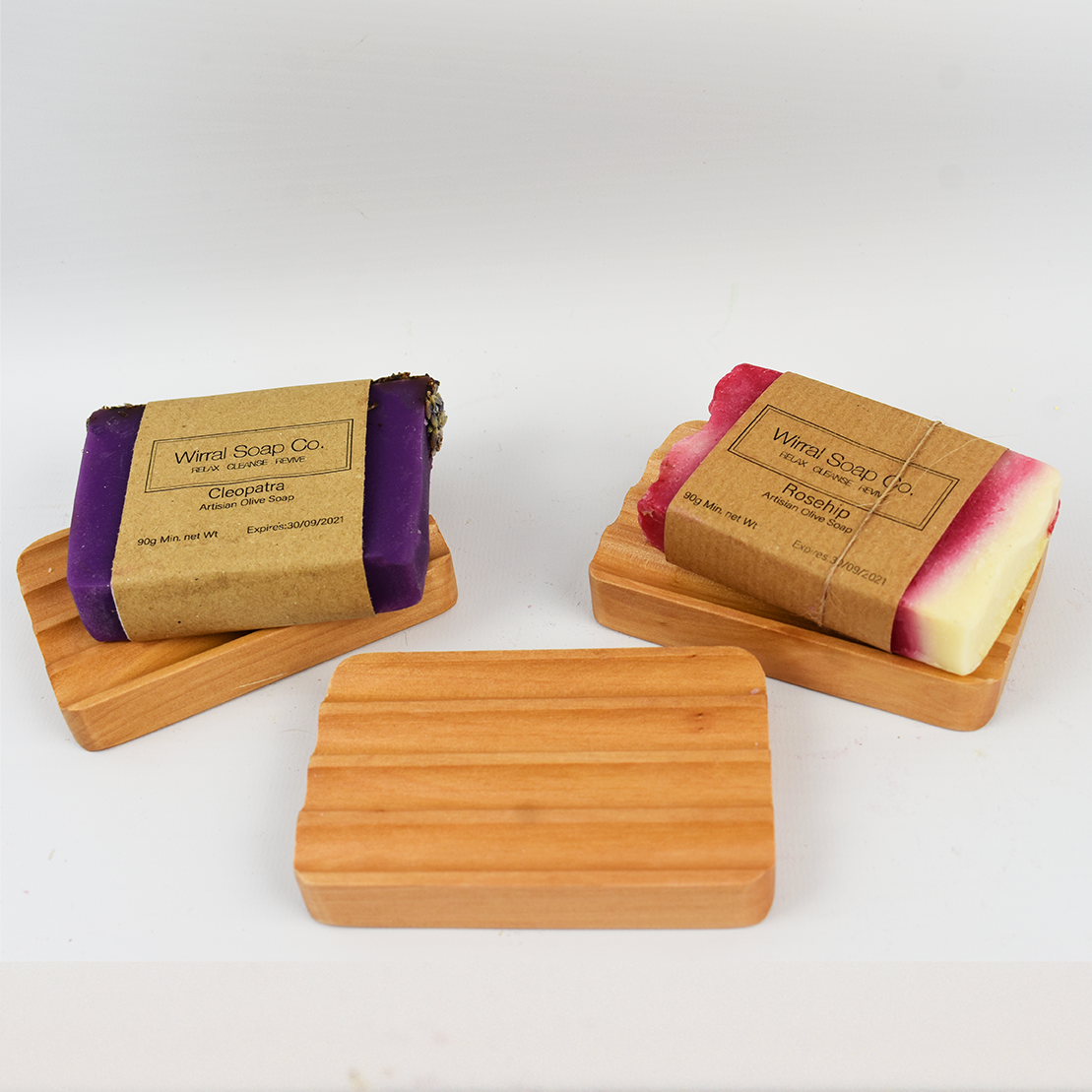 Natural Wood Soap Dishes