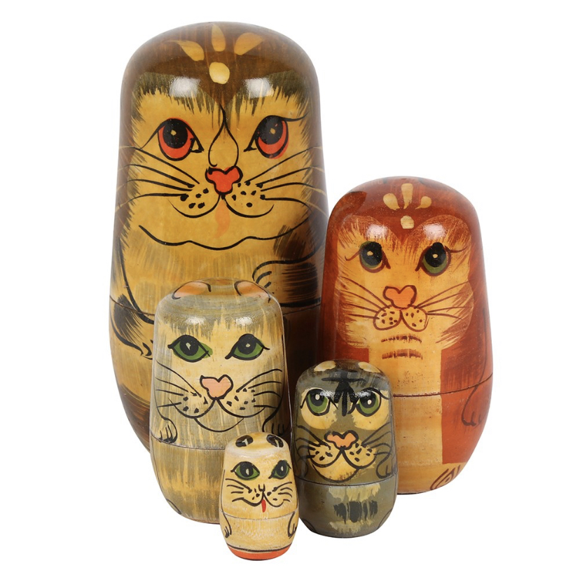 CAT THEMED 'RUSSIAN DOLL' SET