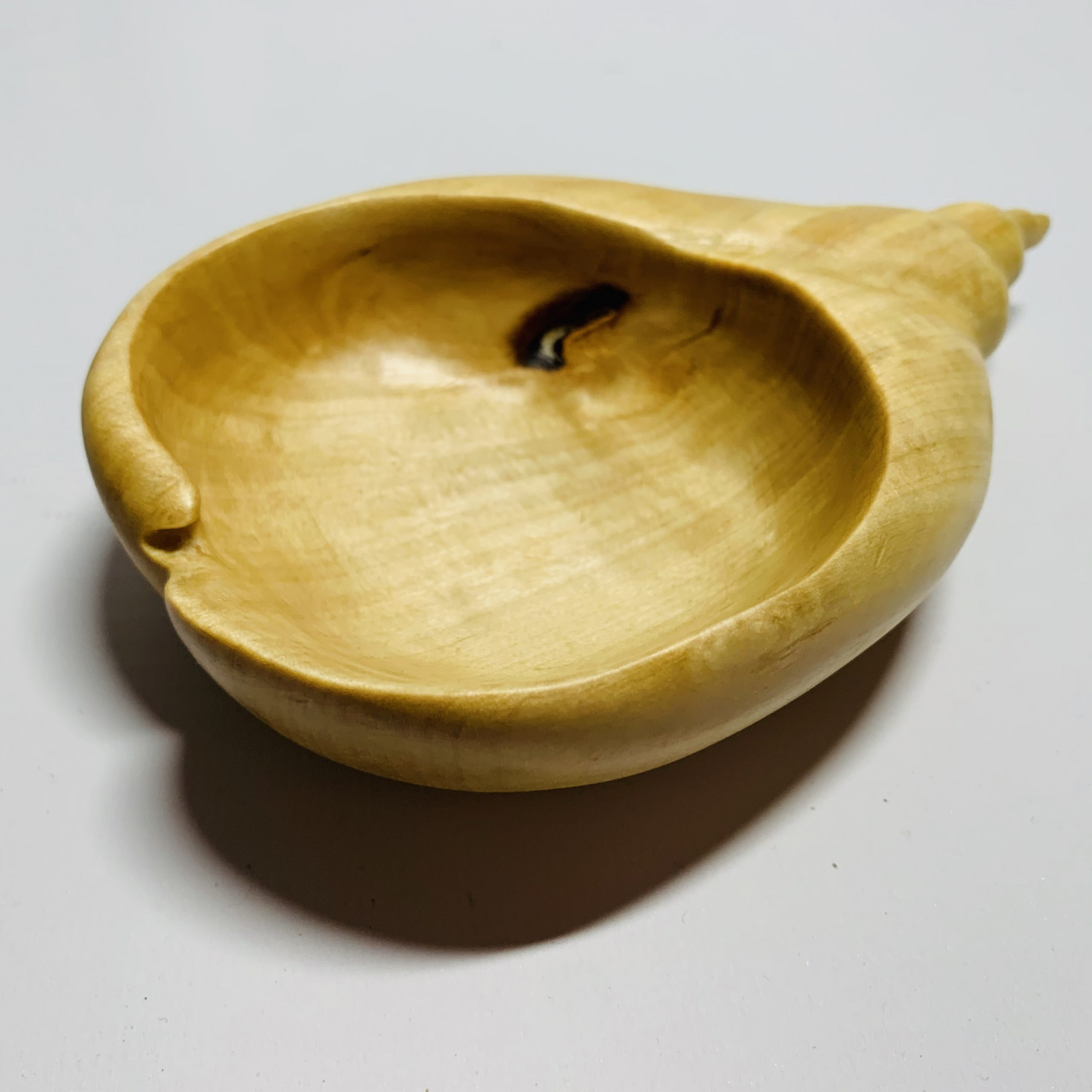 Contemporary Hand-Carved Shell Bowl