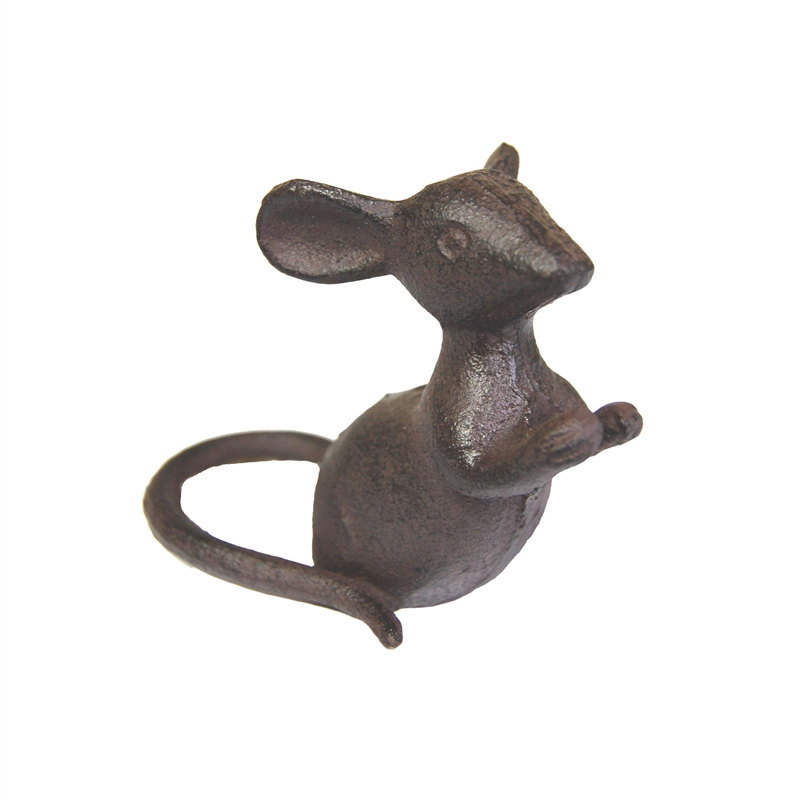 Cast Iron Leaning Mouse