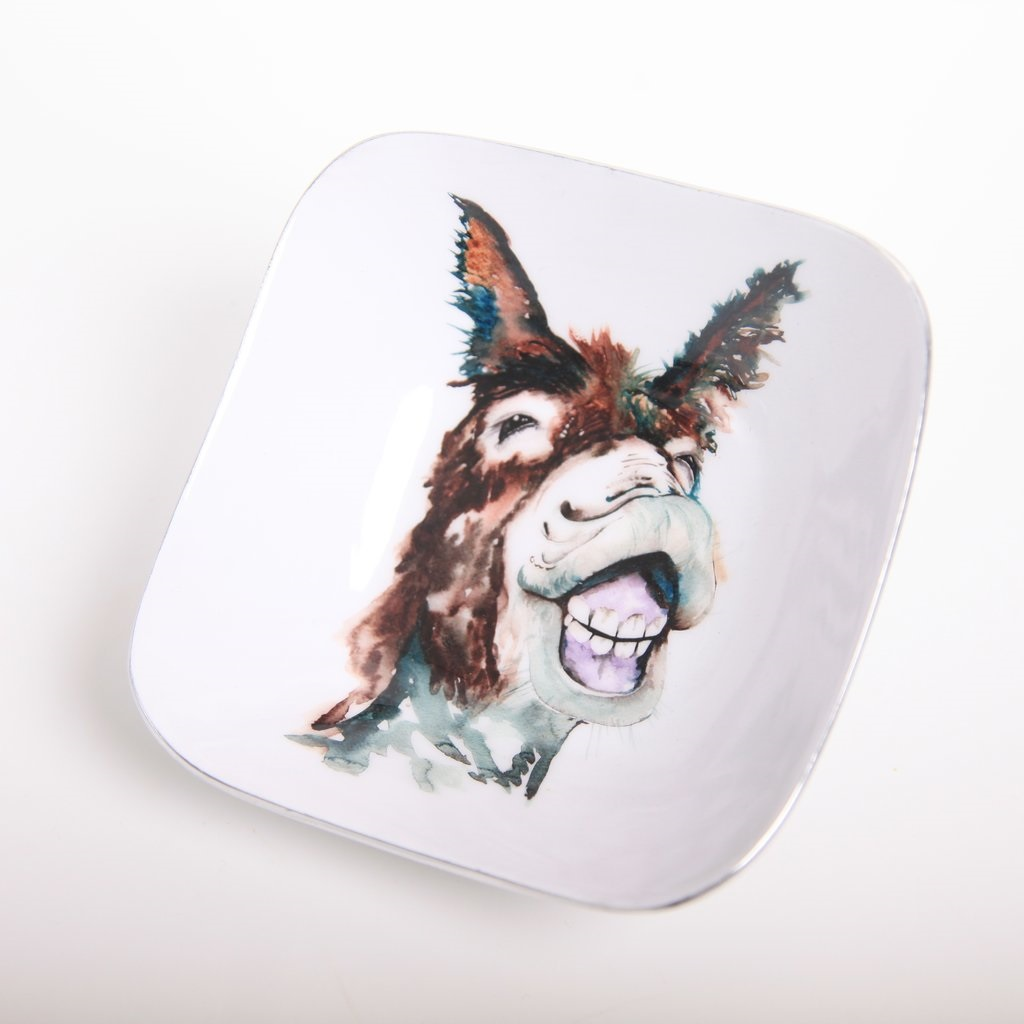Meg Hawkins Collection – Delores The Donkey Square Dish