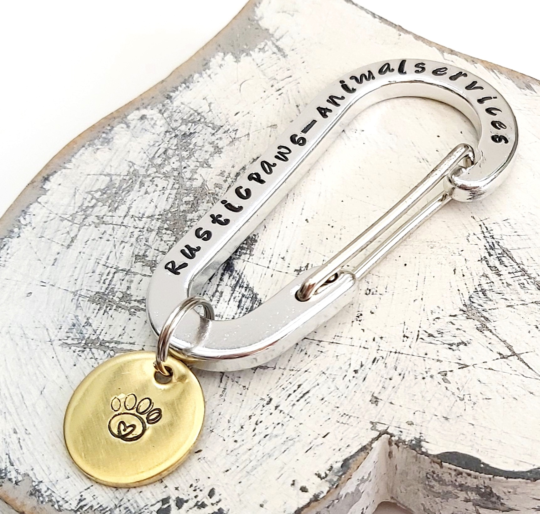 Personalised Aluminium Carabiner Keyring And Disc