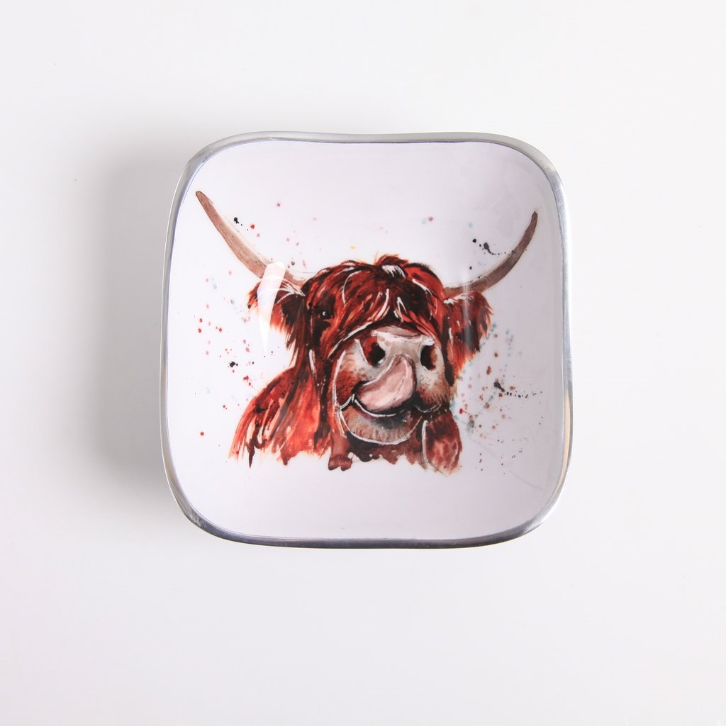 Meg Hawkins Collection – Highland Cow Square Dish