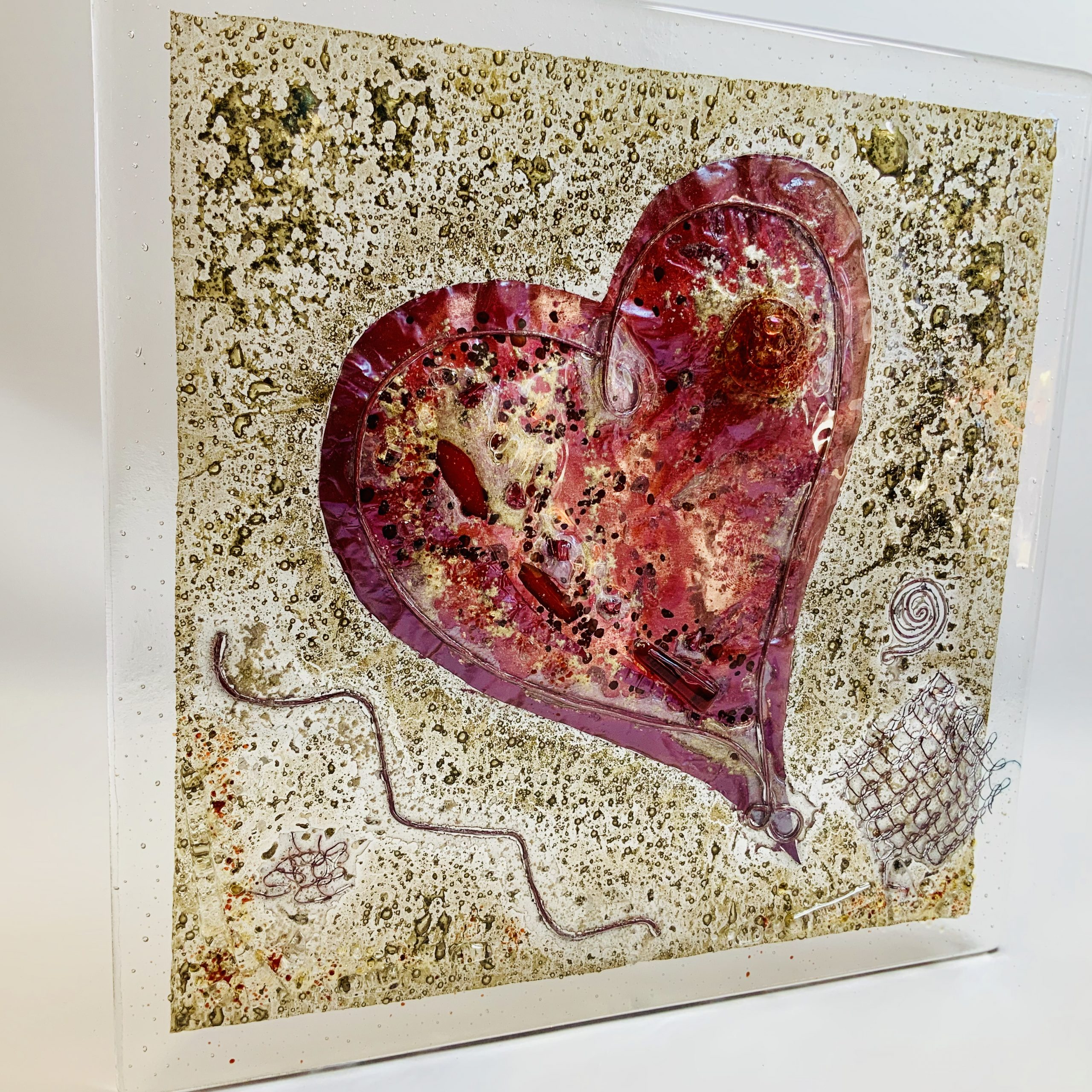 Glass Heart Panel