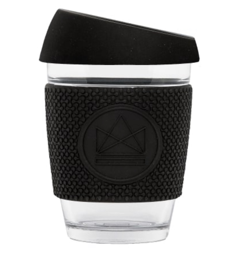 Neon Kactus – Reusable Glass Coffee Cup – Rock Star