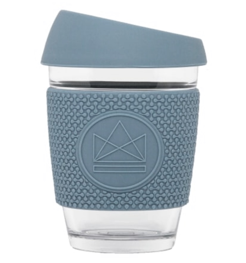 Neon Kactus – Reusable Glass Coffee Cup