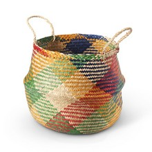 Carnival Handwoven Seagrass Basket