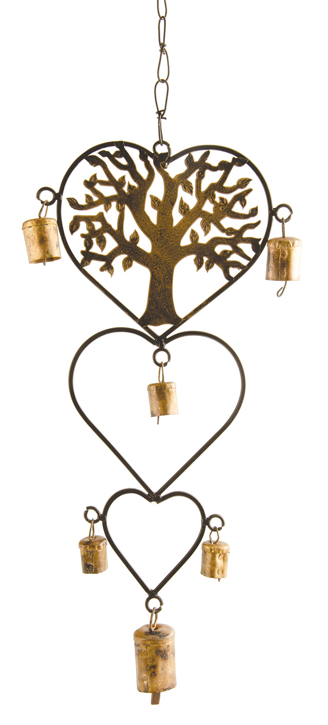 Heart Wind Chime With Tree Of Life