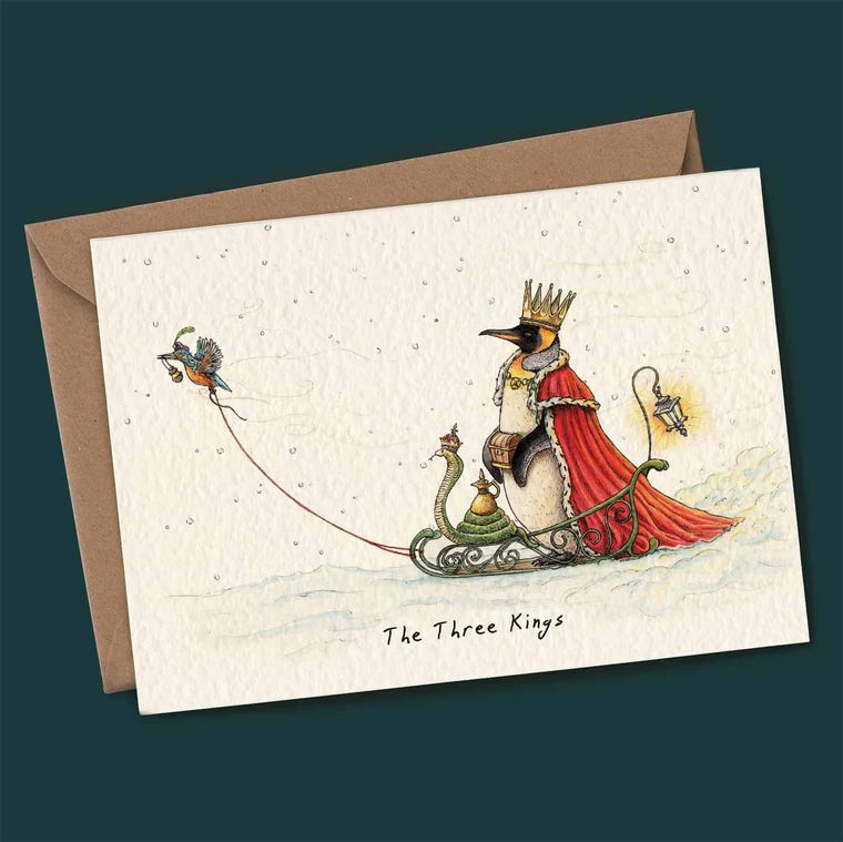 Set Of 4 Humerous Christmas' Cards