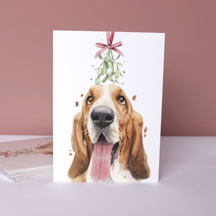 Cute Dogs In Xmas Hats Christmas Cards