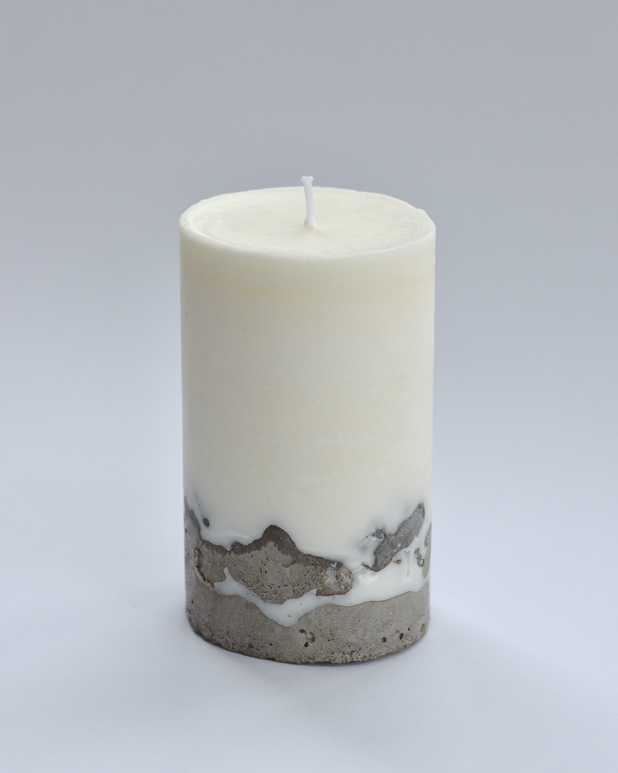 Concrete & Soy Wax Candle – Plain