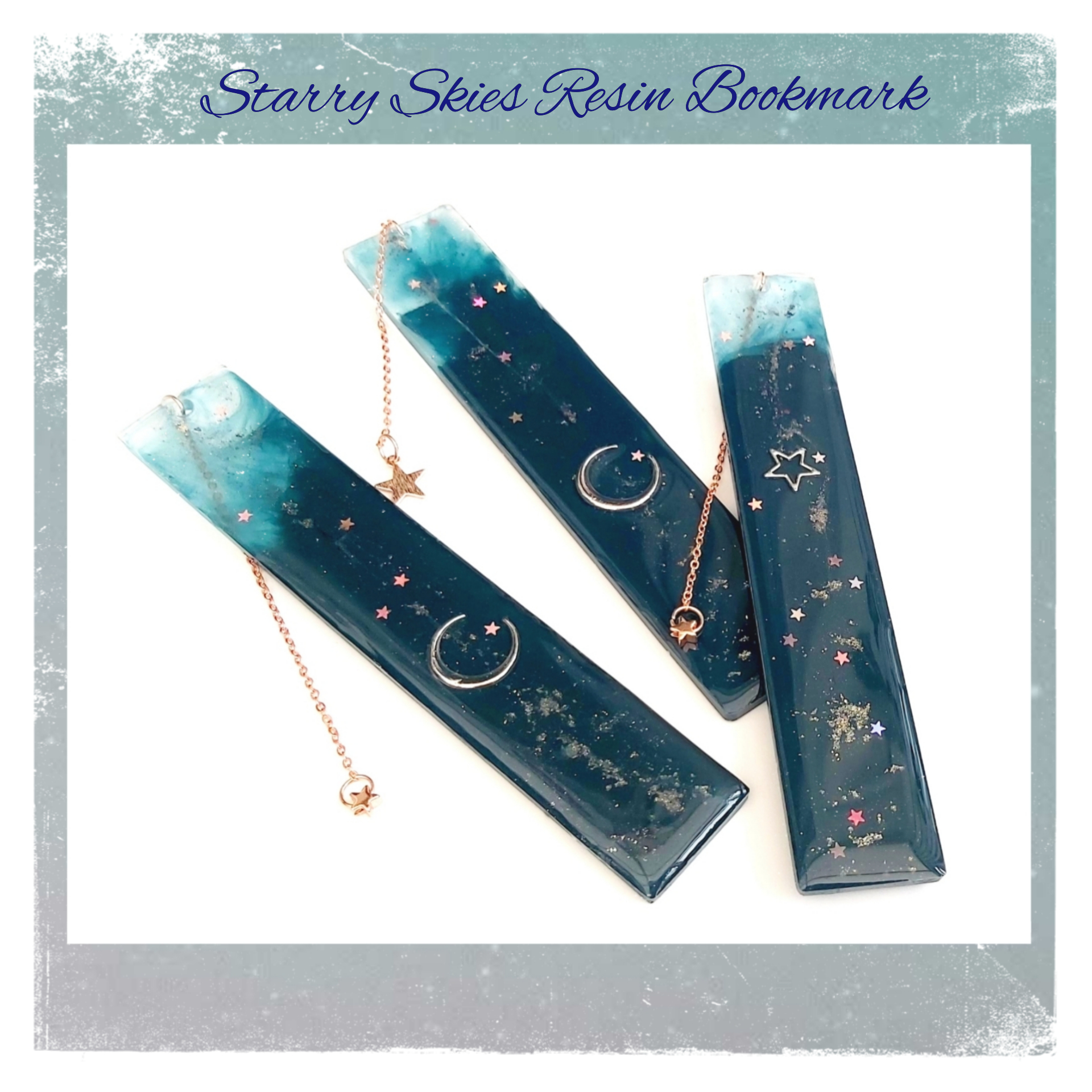 Starry Skies Resin Bookmark