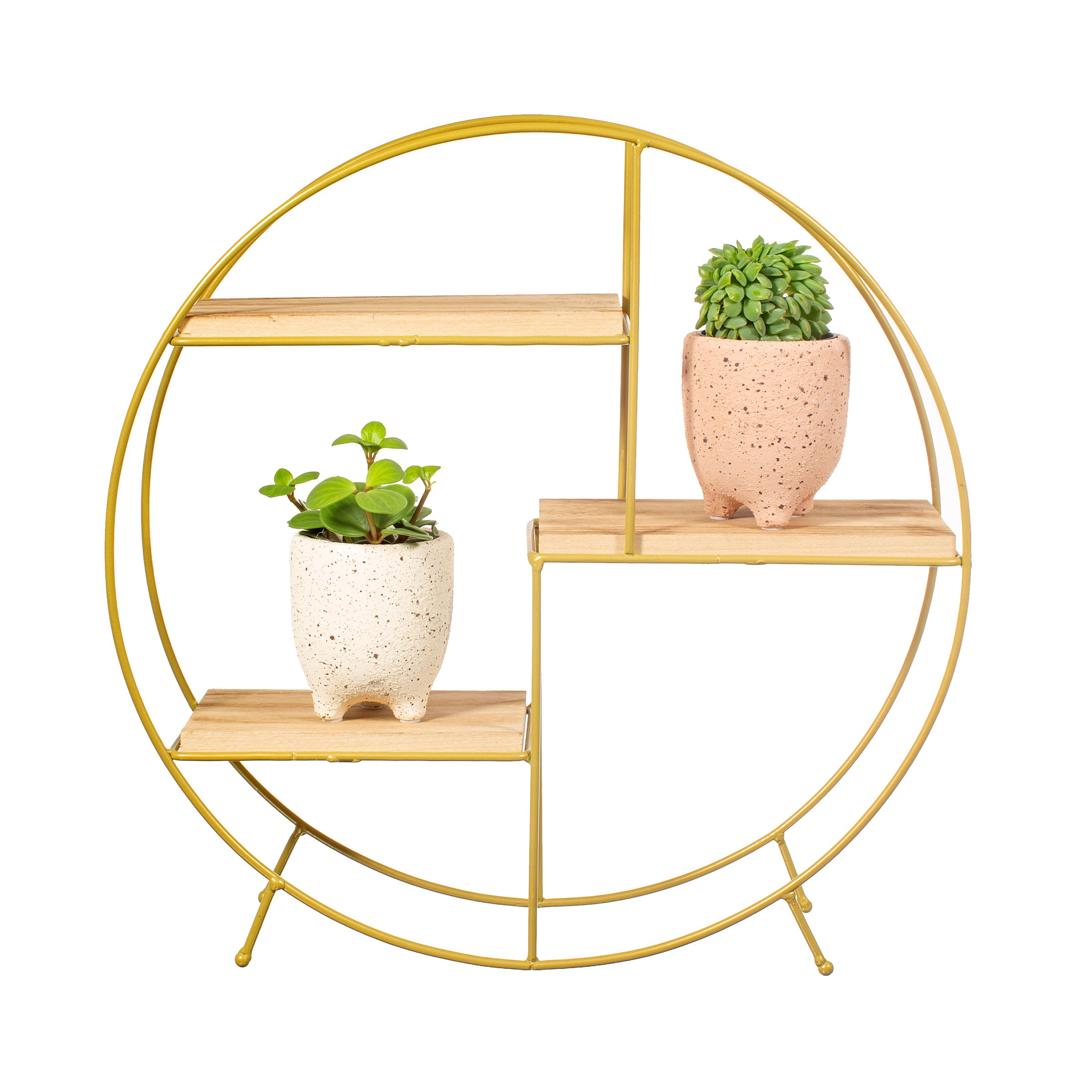 COMING SOON – ROUND SHELF – ANTIQUE GOLD