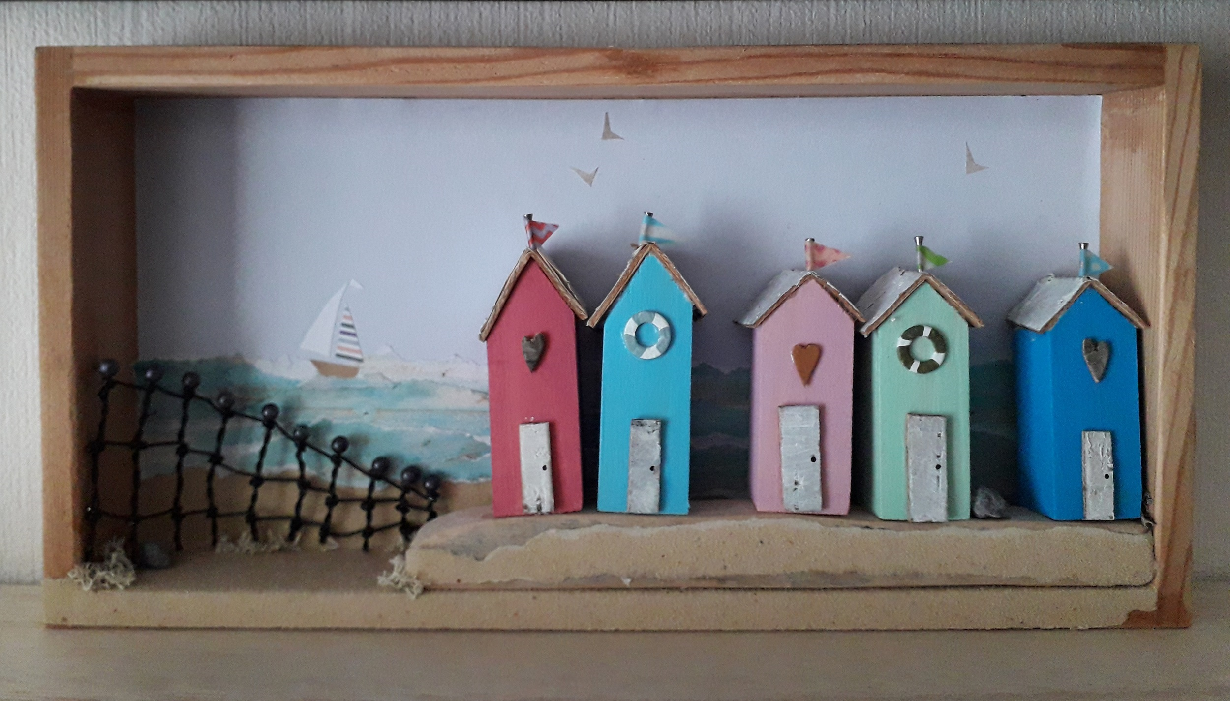 Beach Hut Scene In A Box