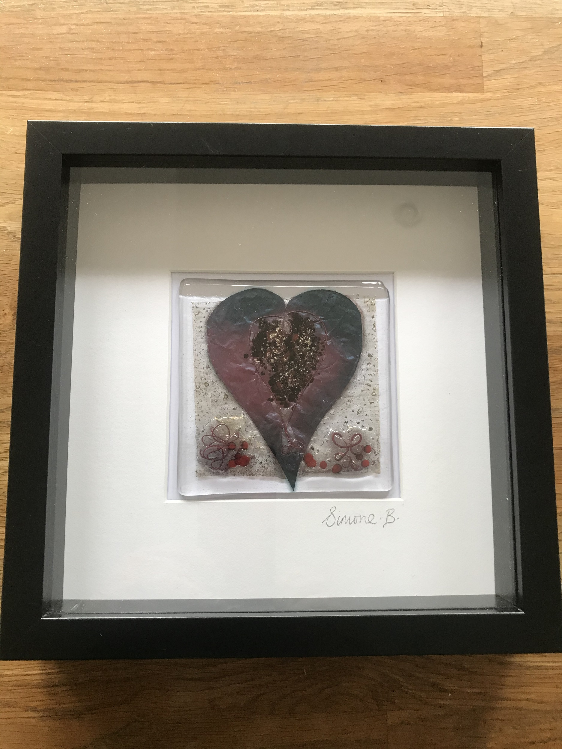 Framed Glass Heart