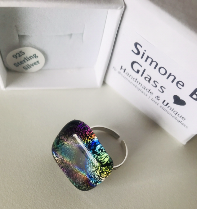 Rainbow Dichroic Ring