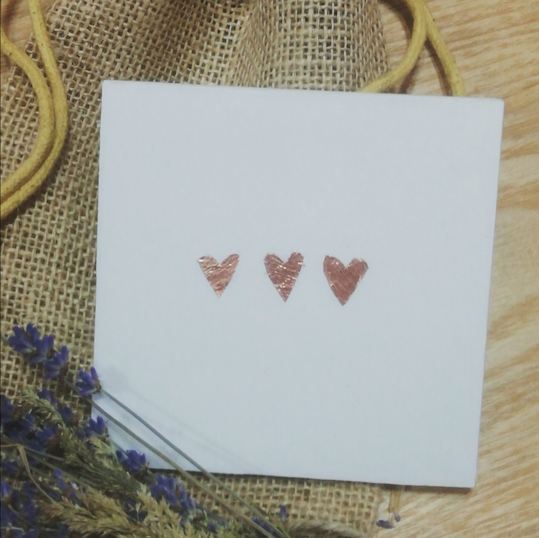 Small Copper Hearts Coaster