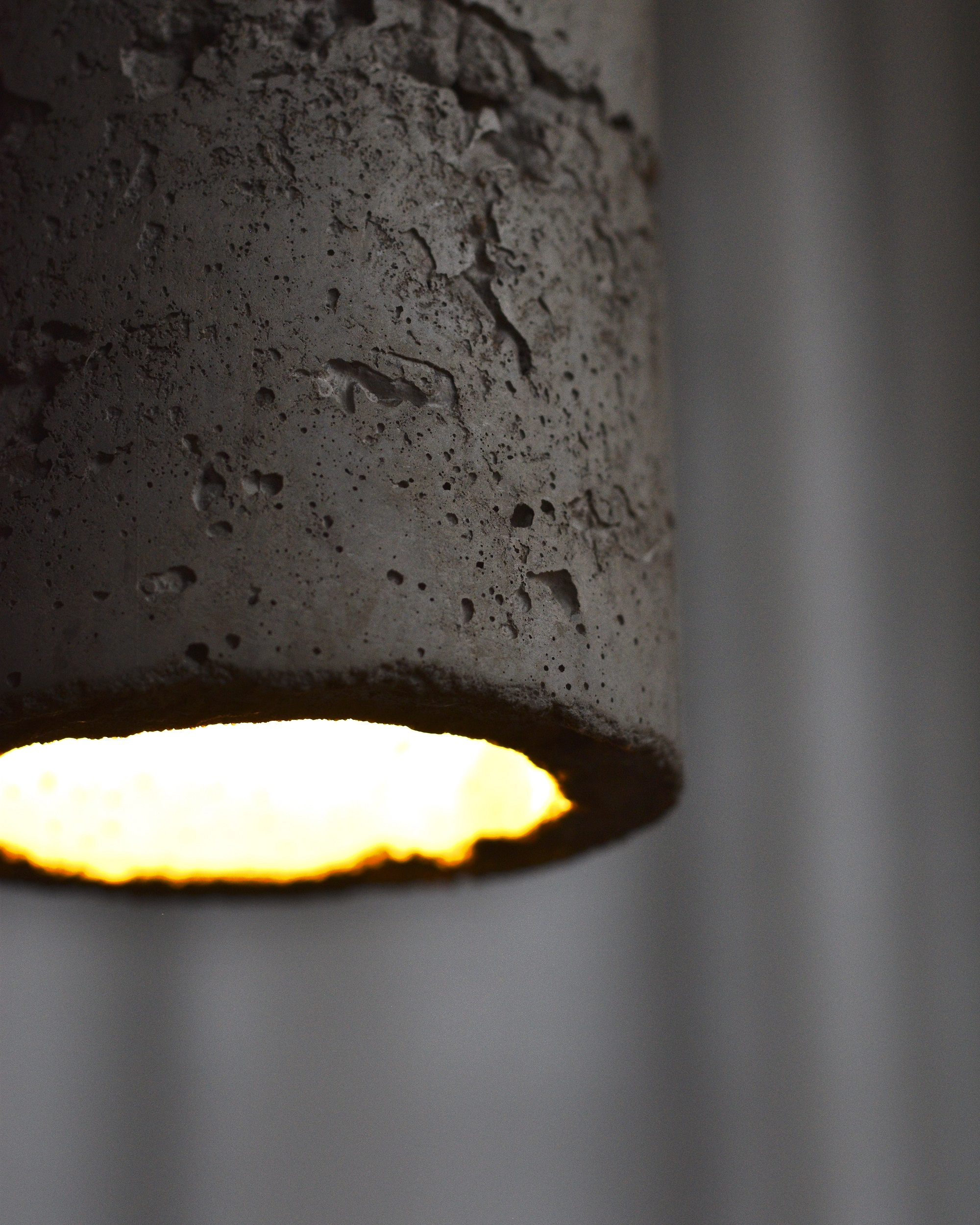 Concrete Pendant Light With 4m Cable