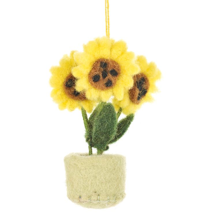 Hanging Pot O' Flowers Sunflower