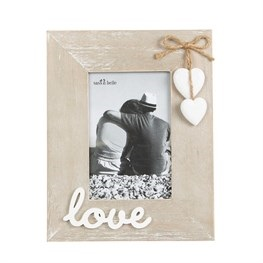 """Love"" Rustic Picture Frame"