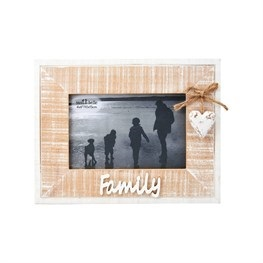 Rustic Heart Family Frame