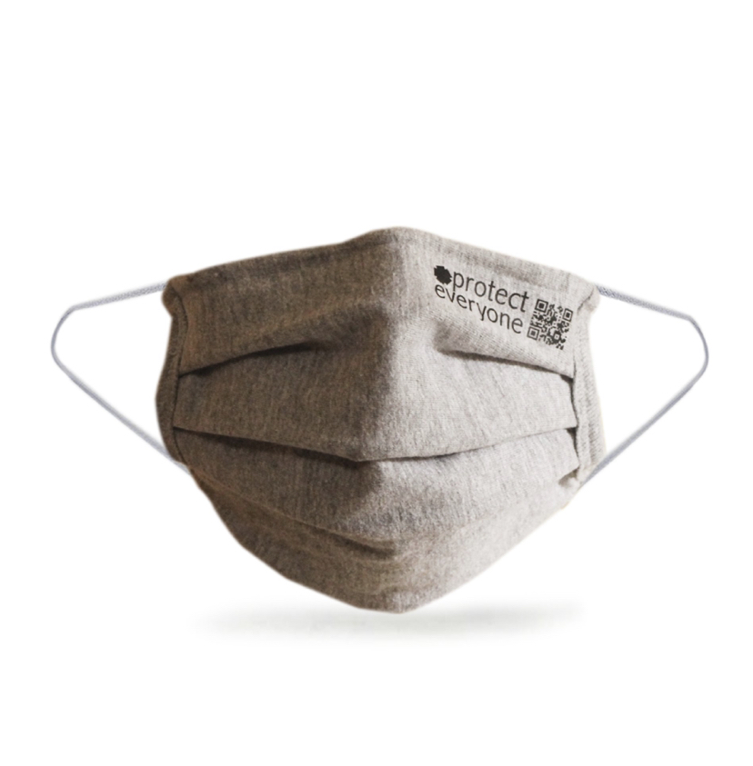 100% Organic Cotton 3 Layer Face Mask – Grey