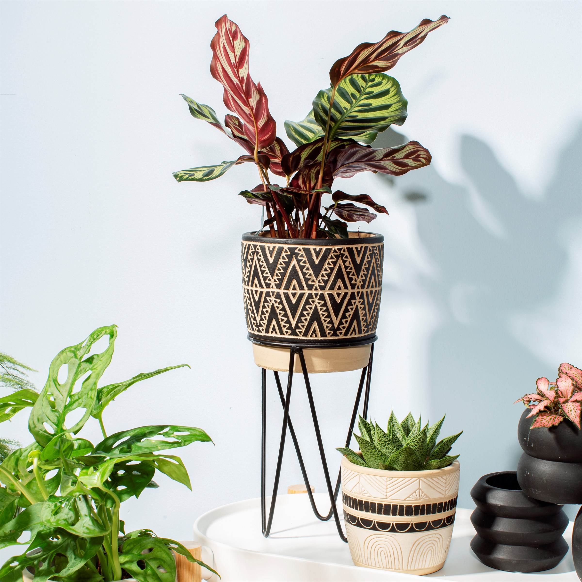NOMAD PLANTER WITH WIRE STAND