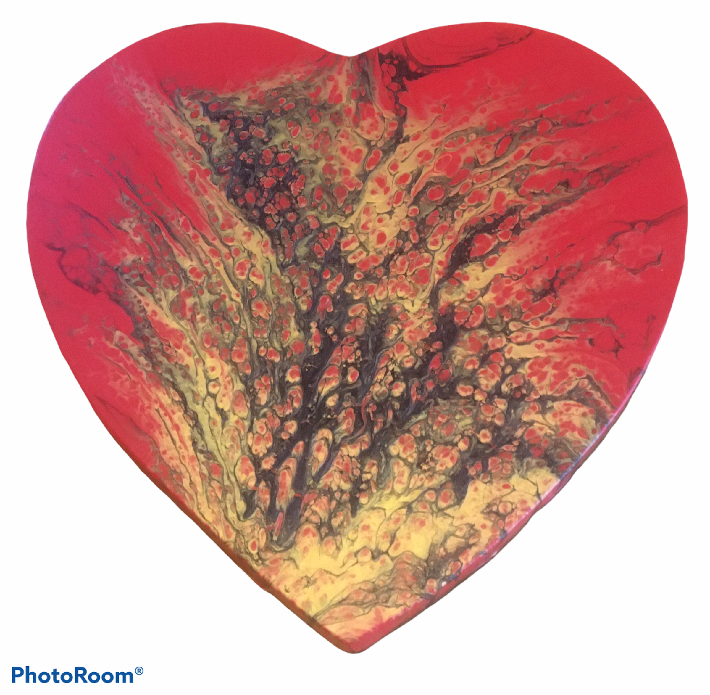 Fluid Art Heart – Amor De Fuego