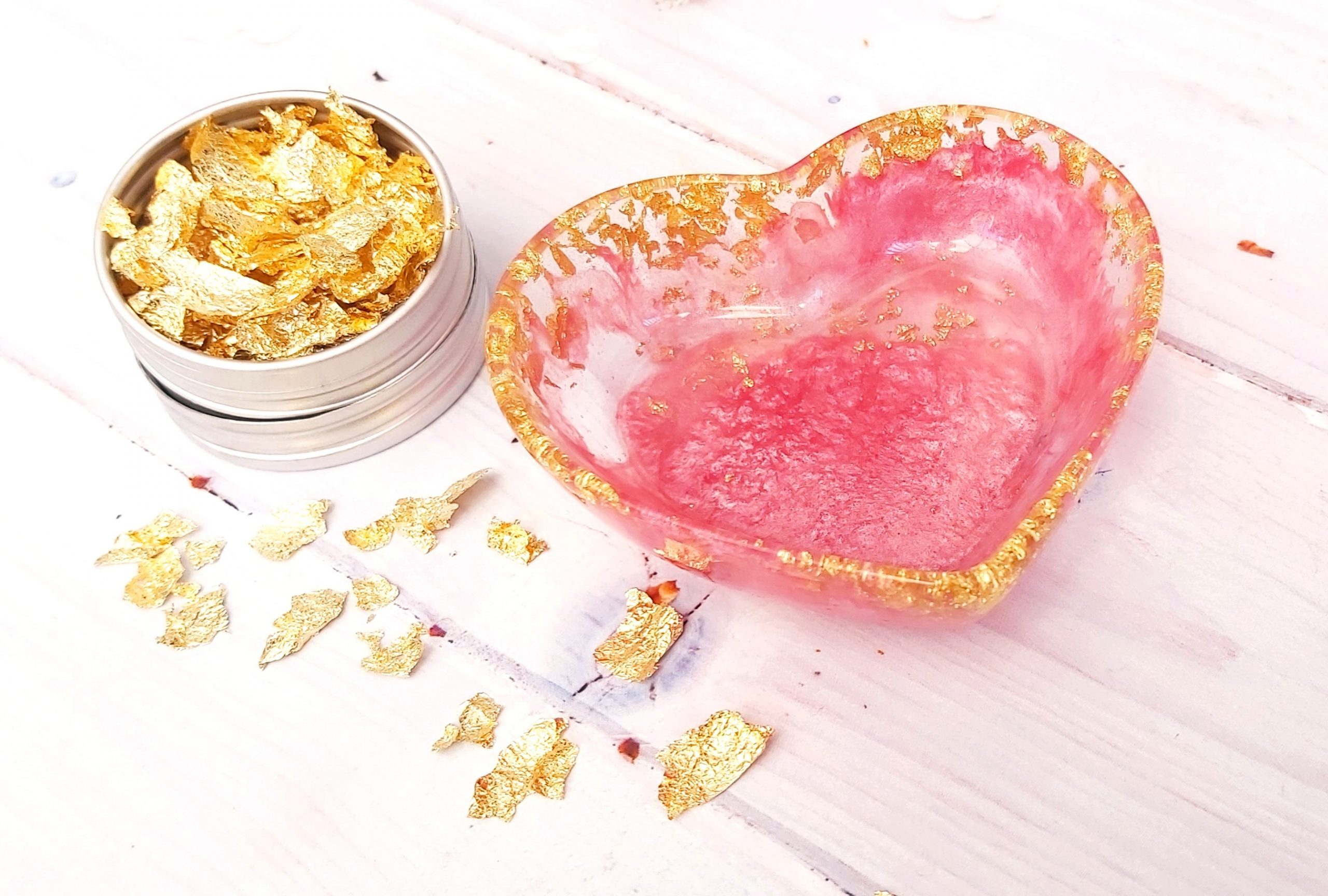 Pink And Gold Heart Trinket Dish